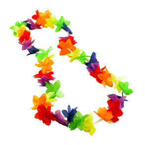 Image of Rainbow Flower Hawaiian Lei LGBT Gay and Lesbian Pride Party and Parade Accessory