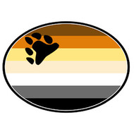 Bear Pride Flag -  Bear Paw - Gay Pride Car Magnet