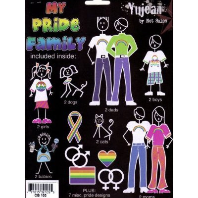 Image of LGBT Gay ∧ Lesbian Family Pride Car Sticker / Gay Pride Decals