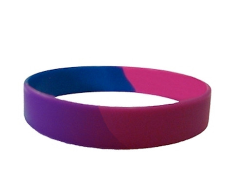 Silicone Wedding Rings >> Bisexual Pride Silicone Bracelet Wristlet - LGBT Pride Wristband w/ Bi Pride Flag Colors - Pride ...