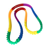 "Rainbow Silicone Soft Link Necklace 34"" Long - Gay & Lesbian Pride"