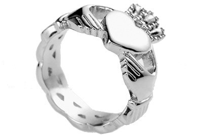 Image of Ladies Claddagh Irish Celtic Ring Heart ∧ Crown Top Quality Steel Lovers Ring