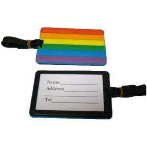 Rainbow Pride 4 x 3 inch Luggage Tag - LGBT Gay & Lesbian Travel Accessories