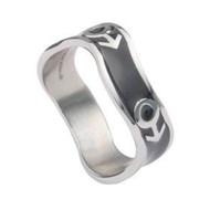 Mars Male Symbol Black Steel Wave Ring - Steel Gay Pride Ring
