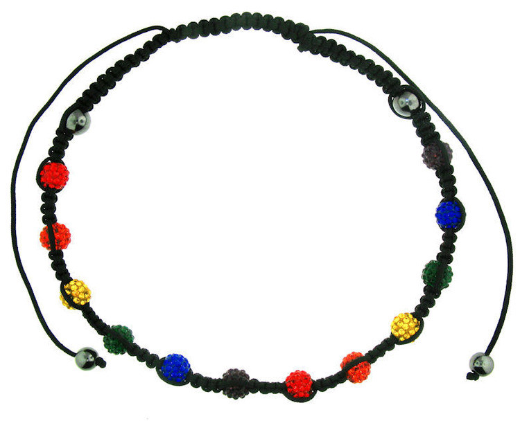 Image of Shamballa Rainbow Adjustable Necklace Gay and Lesbian LGBT Pride Necklaces