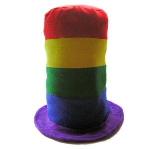Image of Rainbow Gay Parade Pipe Hat LGBT Gay and Lesbian Pride Cap