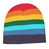 Rainbow Beanie Hat - LGBT Gay and Lesbian Pride Cap. Gay and Lesbian Pride Clothing & Apparel