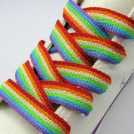 Rainbow Shoe Laces (Pair) - LGBT Gay and Lesbian Pride Apparel