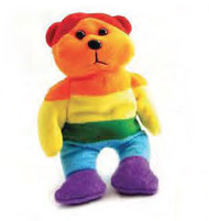 Plush Full Rainbow Teddy Bear - LGBT Gifts - Lesbian and Gay Gift
