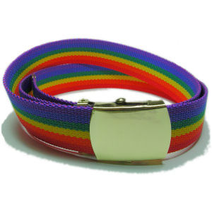 Image of Rainbow Soft Belt (Durable w/ Adjustable Brass Buckle ) LGBT Gay ∧ Lesbian Pride
