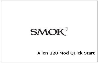 Smok Alien Kit 220W with TFV8 Tank, Best Price UK Alien Mod  Smok