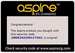aspire cleito authentication code