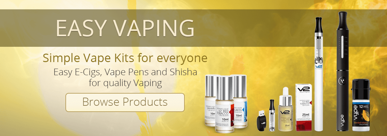 Simple vaping Kits. Small vape pens and shisha pens.