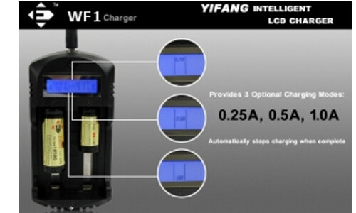Efan Dual Digital Battery Charger Modes