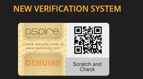 Verification of Your Cleito Tank. Aspire Authentication