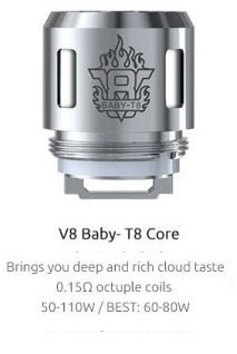 Alien Coils. TFV8 Options 2. Smok TFV8 Baby T8 Core