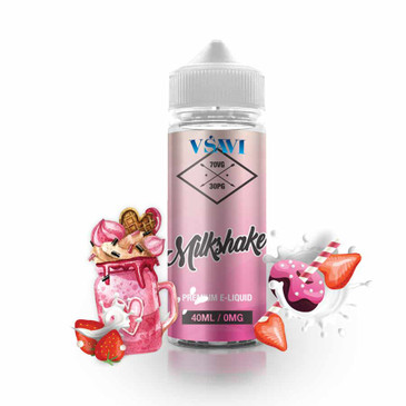 Shortfilled E-Liquid. VSAVI Strawberry Milkshake 0mg (40ml)