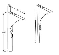 MATRIX brackets for wash basin, height adjustable