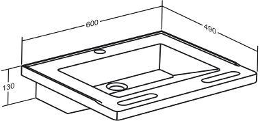 MATRIX SMALL wash basin without overflow