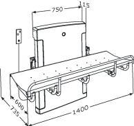Nursing bench 1000, electrically height adjustable