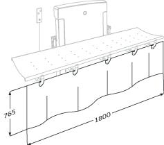 Curtain for nursing bench 1000