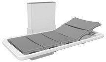 Ropox 40-25076 changing and shower bed with back support - 178cm