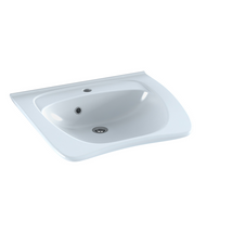 Pressalit MATRIX NEW CURVE R2052 ergonomic wash basin. 600 x 487 mm. Incl. drain fitting, with overflow and tap hole