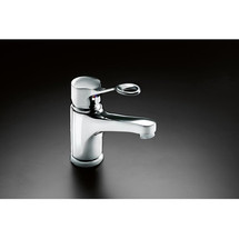 Pressalit Mixer tap with long rotatable spout and ring-shaped operating lever
