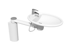 Ropox 40-41120 Swing Washbasin with long cover - fixed height