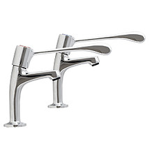 High neck pillar taps with extended levers - T-2X