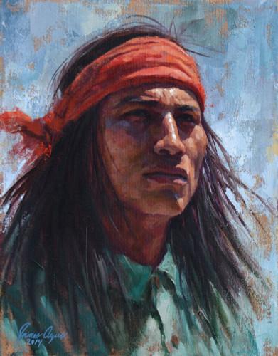 Apache Gaze Giclee, by James Ayers