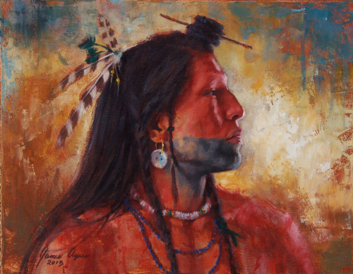 Mandan Soldier, by James Ayers