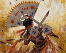 Mountain Spirit, Apache Gaan Dancer giclee, James Ayers