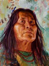 Shoshone Strength, Shoshone Painting, James Ayers