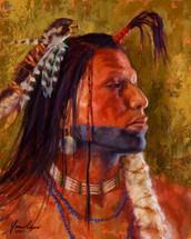 Brave-Mandan-Mandan-Warrior-Painting-by-James-Ayers