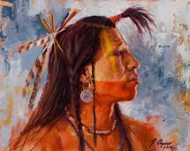 power-of-the-war-paint-mandan-warrior-painting-james-ayers
