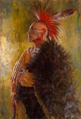 Ozark-Mountain-Warrior-Osage-Nation-Warrior-Giclee-James-Ayers
