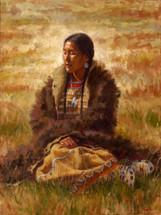 Prairie Angel, Cheyenne Woman Painting, James Ayers
