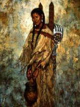 Kiowa Cradleboard painting