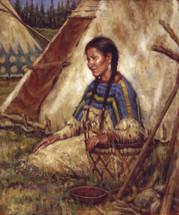 An Idle Moment - Blackfoot Giclee - James Ayers