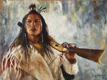 The Winchester, Crow warrior painting, by James Ayers