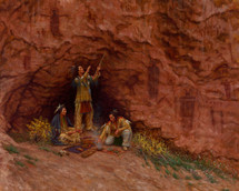 Whispers of the Anasazi, Ute painting, by James Ayers