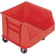 """CD671 HD MOBILE Plastic Bins (RED) 16.5""""Wx18""""Dx14""""H"""