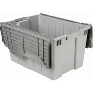 """CD459 Plastic Containers (GREY flip top) 21.5""""Lx15""""Wx12.5""""H"""
