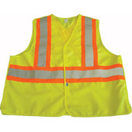 SAR637 Safety Vests With Contrasting Stripe (Large)