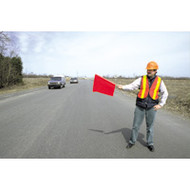 "SC143 Traffic Safety Flags (vinyl/36""L staff)"