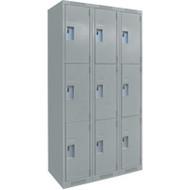 FJ161 Steel Lockers 3 tiers3 banks