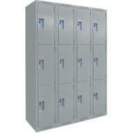 FJ162 Steel Lockers 3 tiers4 banks