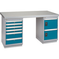 """FG467 Workbenches (steel-wood fill tops) 30""""Wx60""""Lx34""""H"""