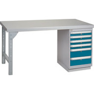 """FG641 Workbenches (steel-wood fill tops) 36""""Wx60""""Lx34""""H"""